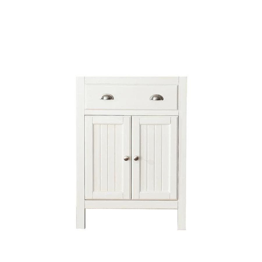 Avanity Hamilton French White Bathroom Vanity (Common: 24-in x 22-in; Actual: 24-in x 21.5-in)