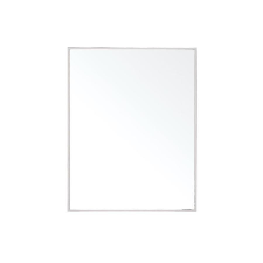Avanity Sonoma 1.5-in x 31.5-in Matte White Rectangular Framed Bathroom Mirror