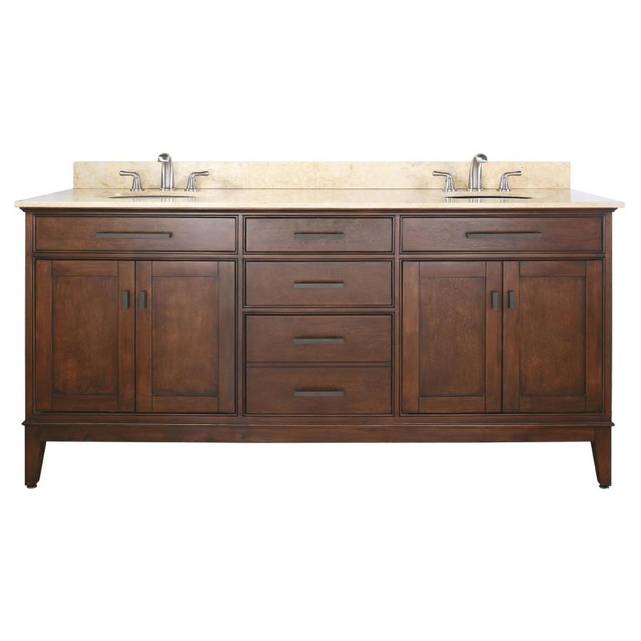Undermount Sink Vanity : ... Undermount Double Sink Poplar Bathroom Vanity with Natural Marble Top