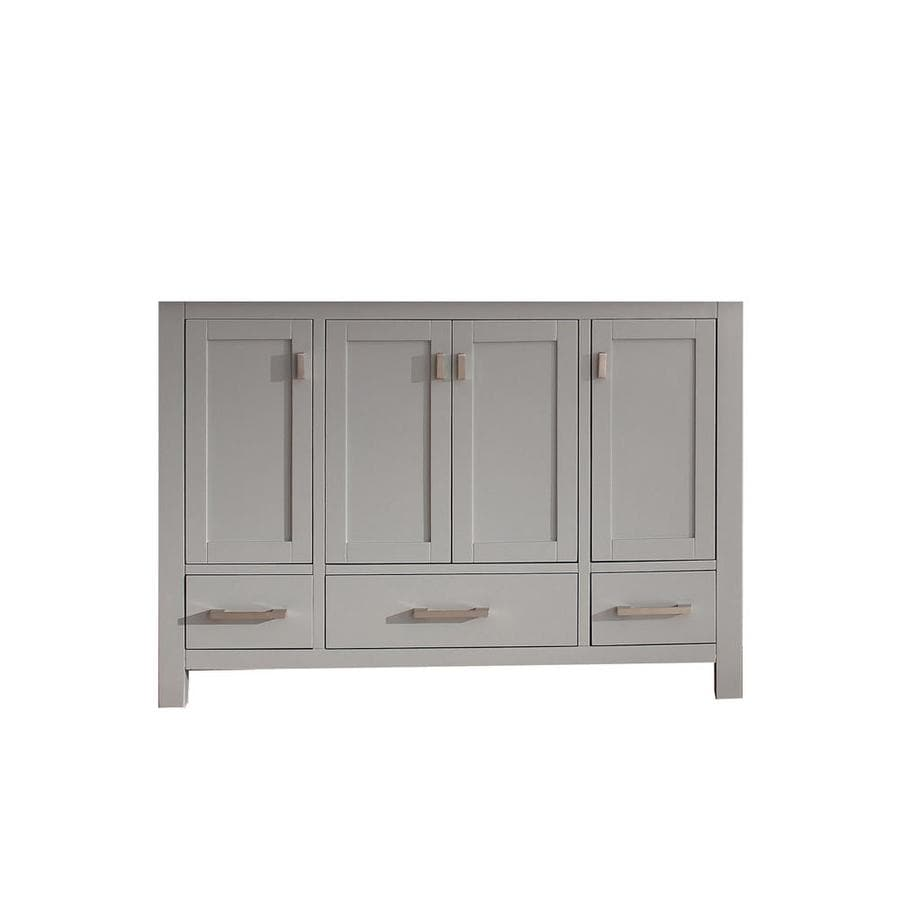 Shop Avanity Modero Chilled Gray Transitional Bathroom Vanity - 48 gray bathroom vanity