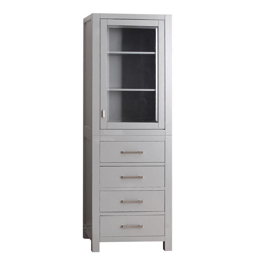 Shop Avanity Modero 24-in W x 71-in H x 20-in D Chilled Gray ...
