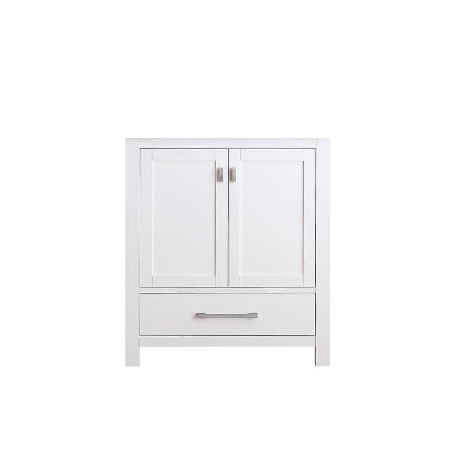Avanity Modero White Transitional Bathroom Vanity (Common: 30-in x 21-in; Actual: 30-in x 21-in)