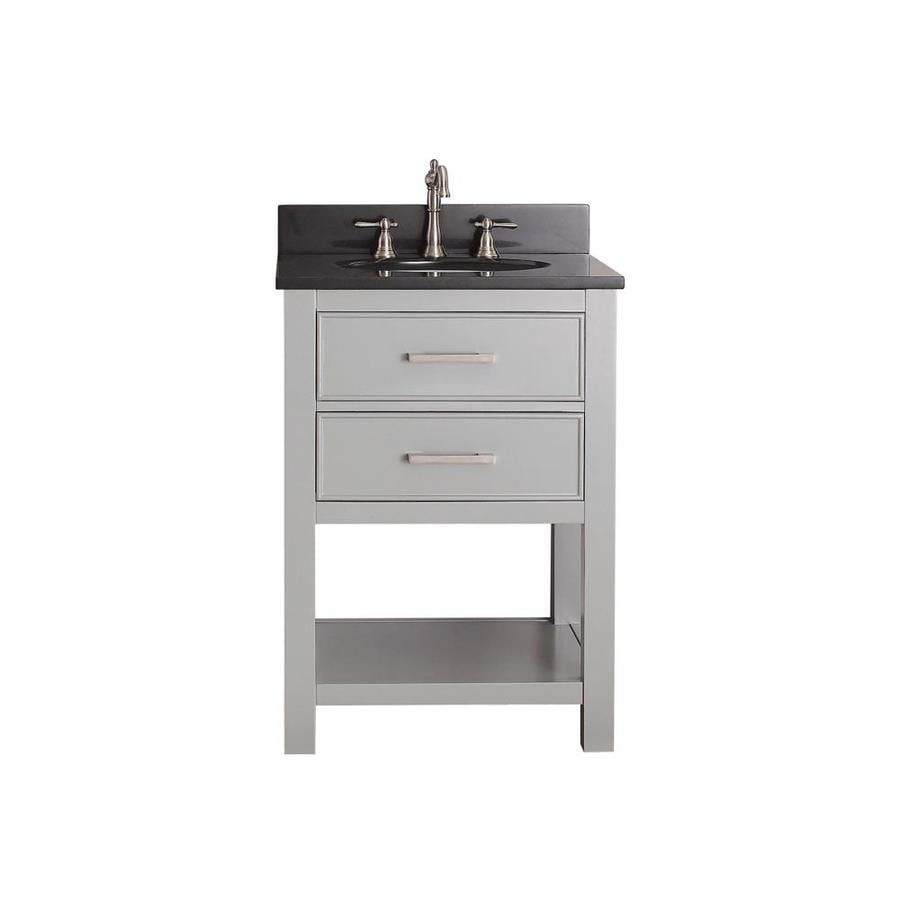 Avanity Brooks Chilled Gray Undermount Single Sink Bathroom Vanity with Granite Top (Common: 25-in x 22-in; Actual: 25-in x 22-in)