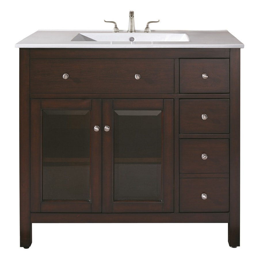 Avanity Lexington Light Espresso 36-in Casual Bathroom Vanity
