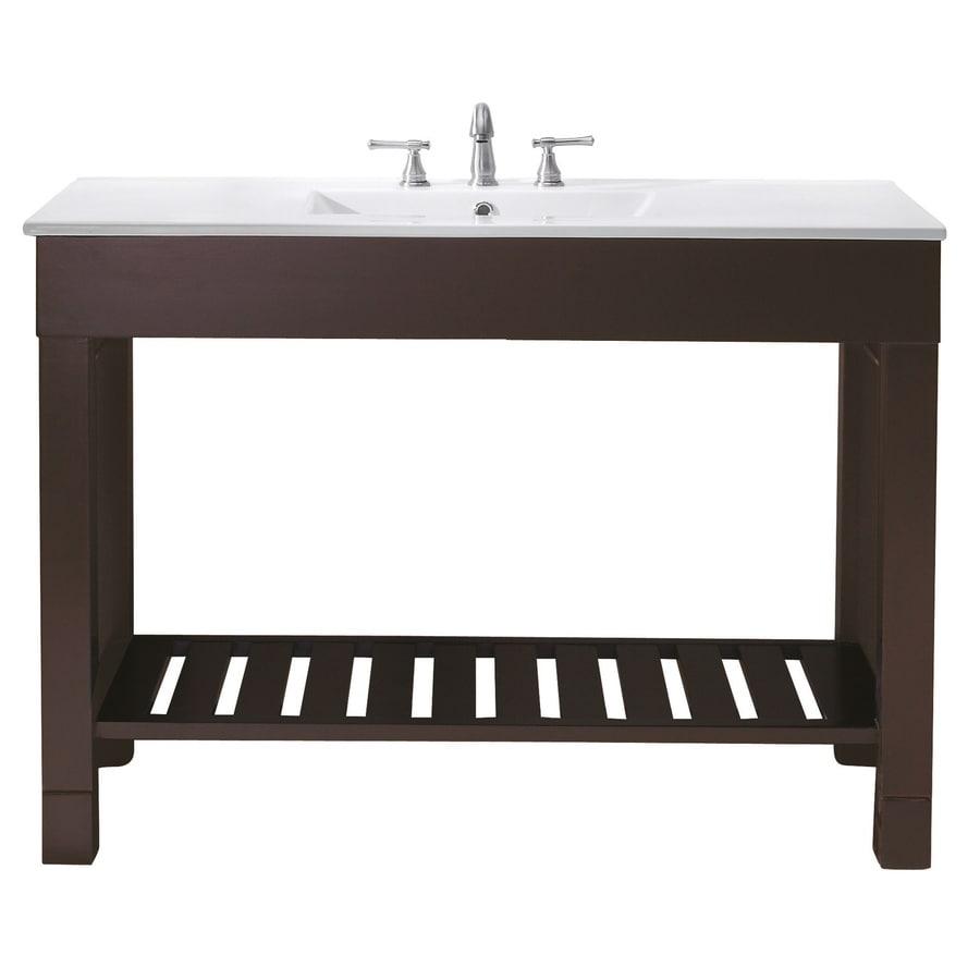Avanity Loft Freestanding Dark Walnut Bathroom Vanity (Common: 48-in x 21-in; Actual: 48-in x 21.5-in)