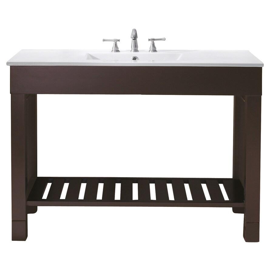 Avanity Loft Dark Walnut (Common: 48-in x 21-in) Casual Bathroom Vanity (Actual: 48-in x 21.5-in)