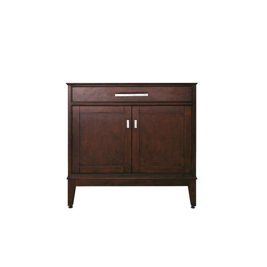 Avanity Madison Light Espresso (Common: 36-in x 21-in) Transitional Bathroom Vanity (Actual: 36-in x 21-in)