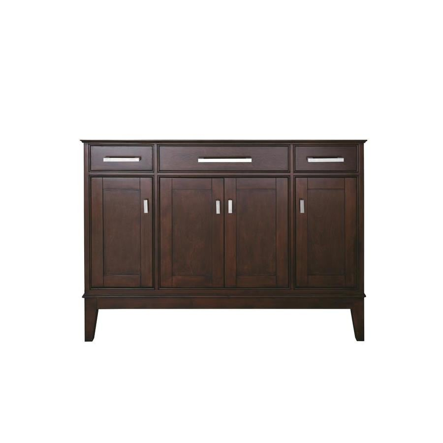 Shop avanity madison freestanding light espresso bathroom for Bathroom 48 inch vanity