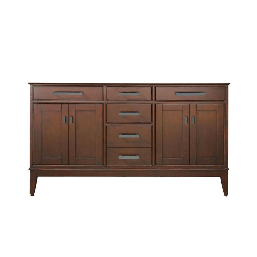 Avanity Madison Tobacco Bathroom Vanity (Common: 60-in x 21-in; Actual: 60-in x 21-in)