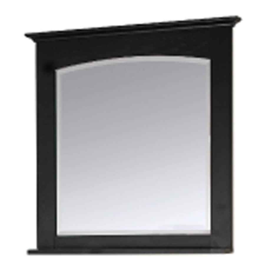 allen + roth Kingsland 26-in W x 30-in H Ebony Rectangular Bathroom Mirror