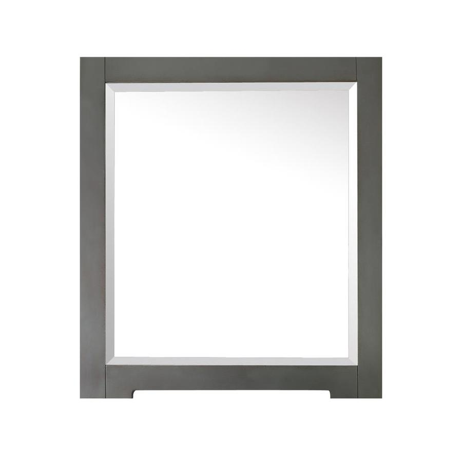 Shop avanity kelly 28 in x 32 in grayish blue square for Square mirror