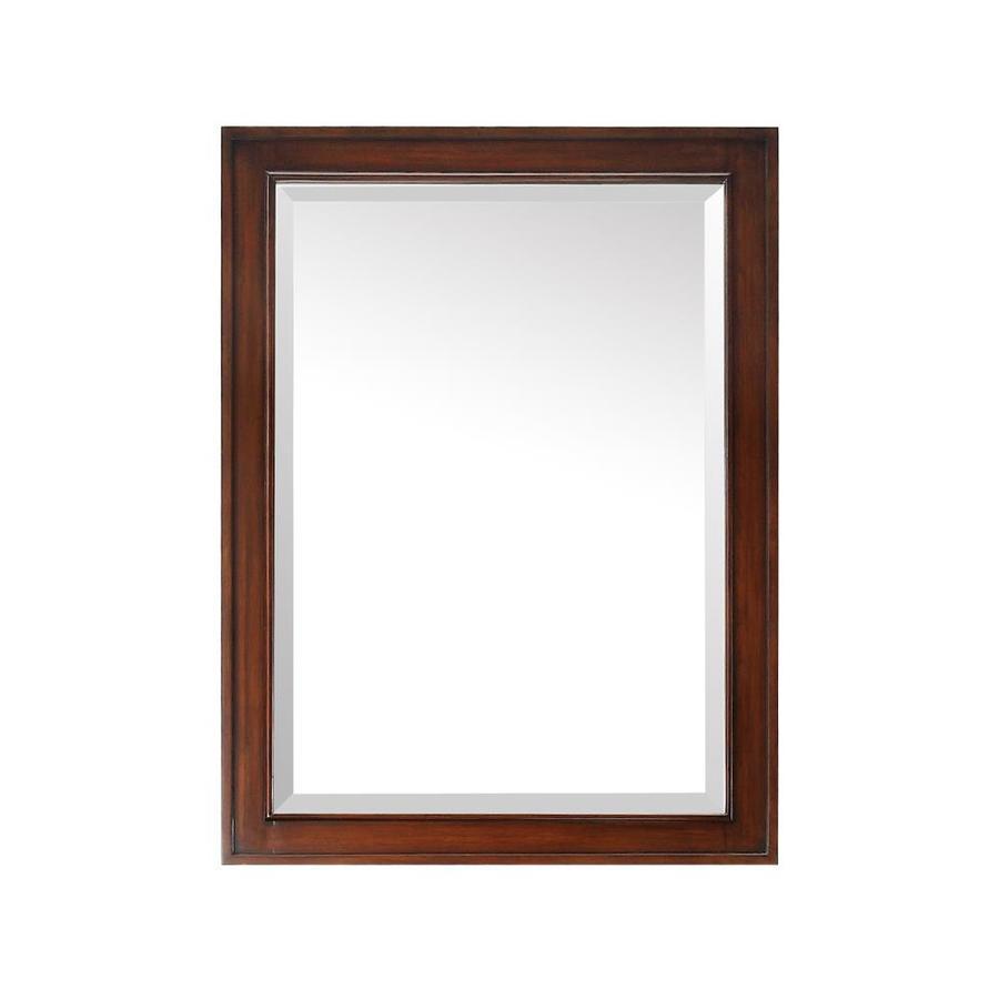 Avanity Brentwood 24-in W x 32-in H New Walnut Rectangular Bathroom Mirror