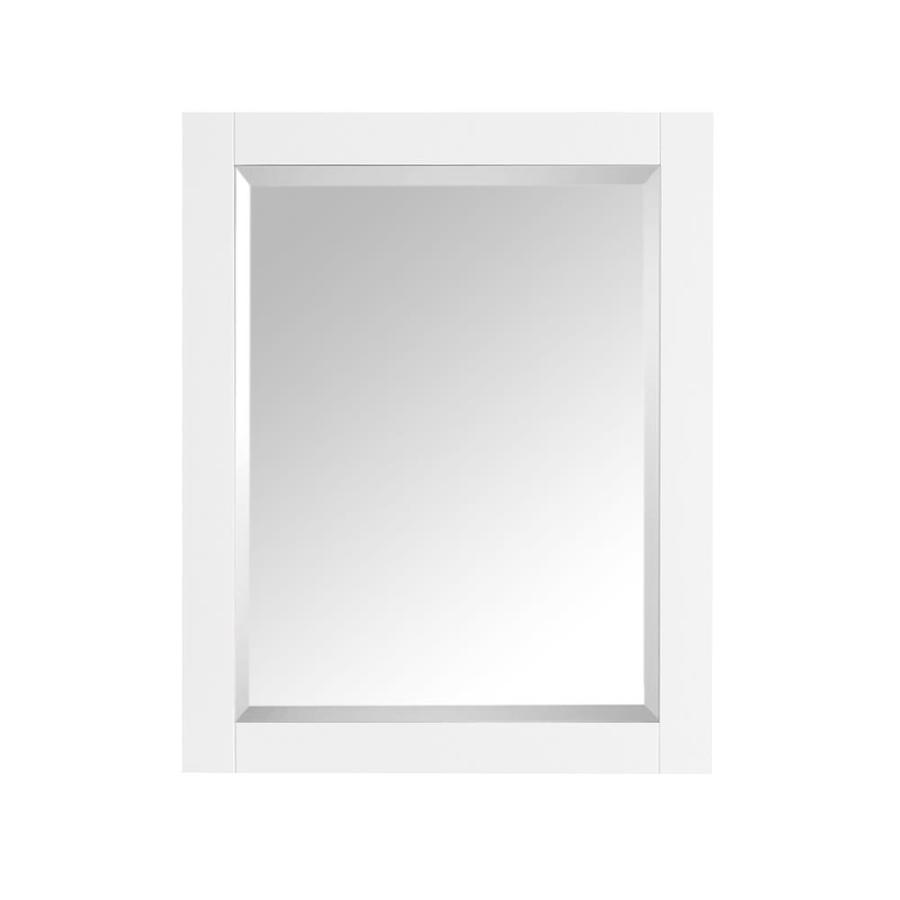 Avanity Brooks/Modero/Tribeca 28-in W x 32-in H White Rectangular Bathroom Mirror