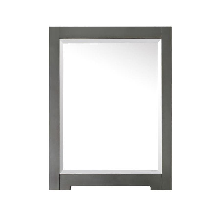 Avanity Kelly 1.3-in W x 32-in H Grayish Blue Rectangular Bathroom Mirror