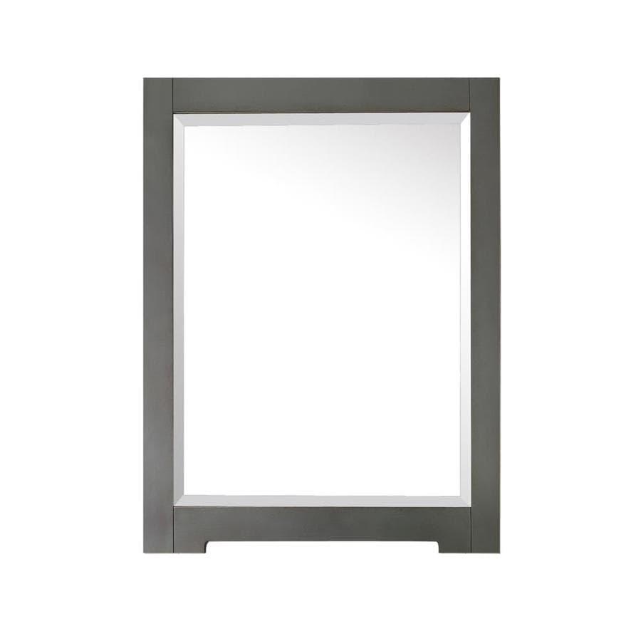Avanity Kelly 1.3-in x 32-in Grayish Blue Rectangular Framed Bathroom Mirror