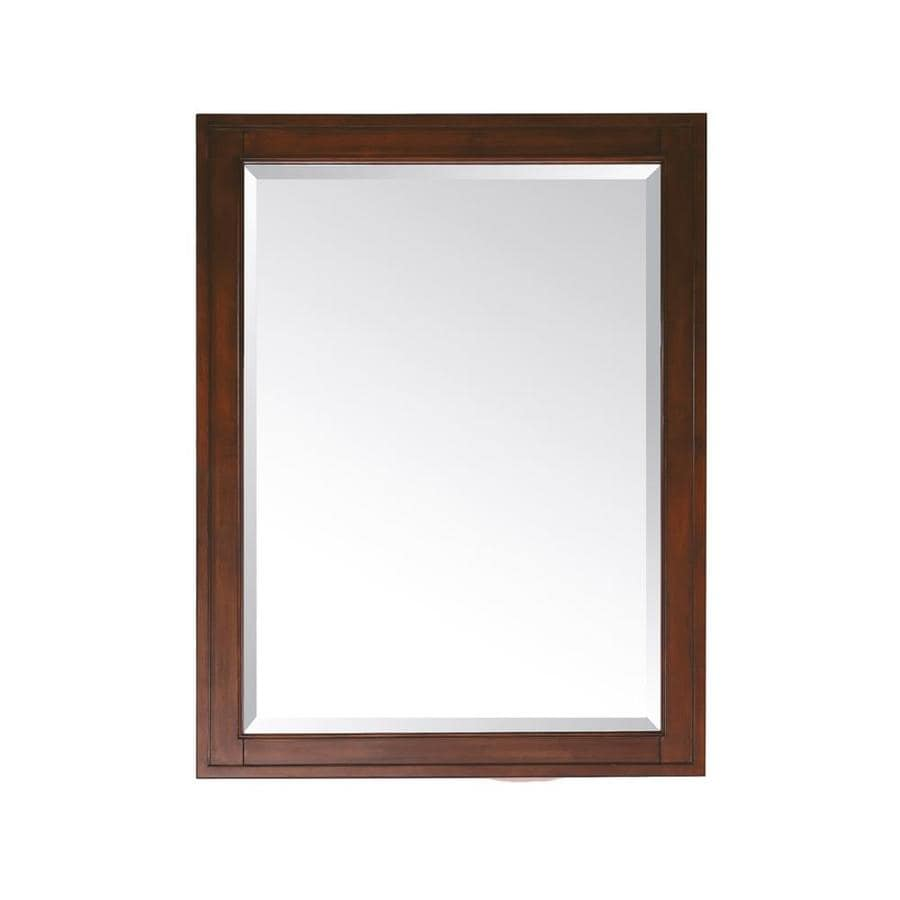 Avanity Madison 24-in W x 32-in H Tobacco Rectangular Bathroom Mirror