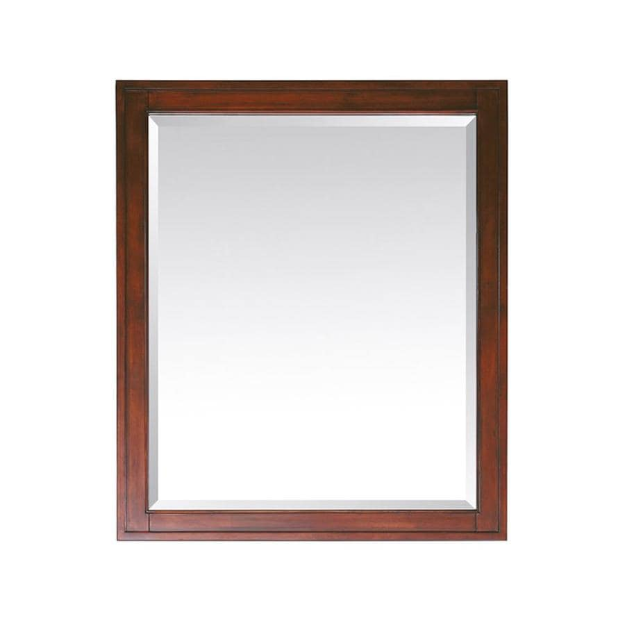 Avanity Madison 28-in x 32-in Tobacco Rectangular Framed Bathroom Mirror