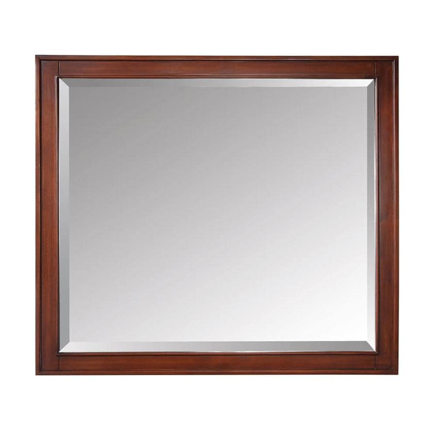 Avanity Madison 36-in x 32-in Tobacco Rectangular Framed Bathroom Mirror
