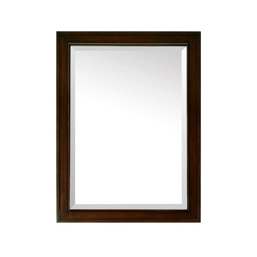 Shop Avanity Madison 24 In X 32 In Light Espresso Rectangular Framed Bathroom Mirror At