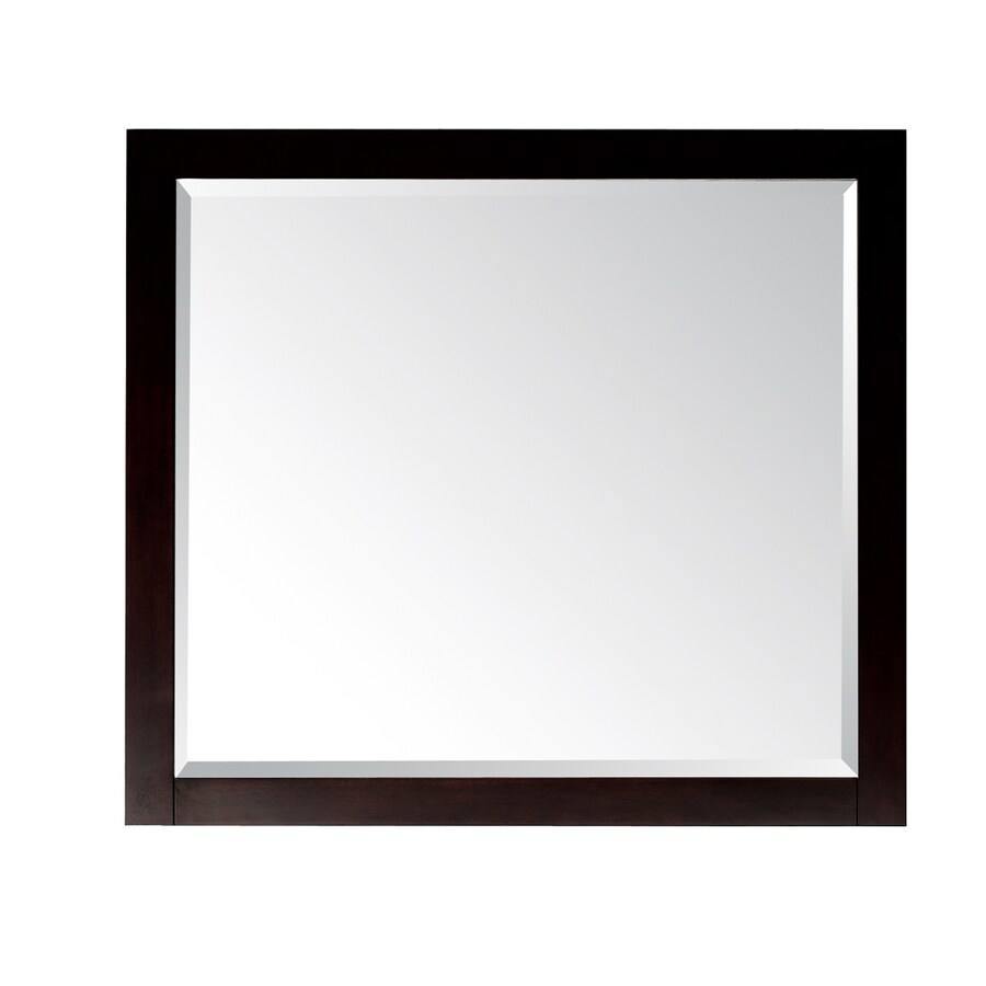 Rectangular Vanity Mirror With Lights : Shop Avanity Lexington 36-in Wx32-in H Light Espresso Rectangular Bathroom Mirror at Lowes.com