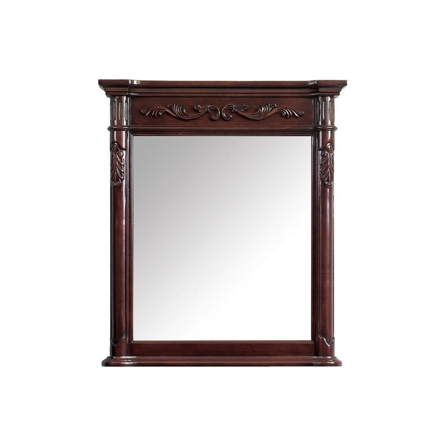 Shop Avanity Provence 30 In Antique Cherry Rectangular Bathroom Mirror At