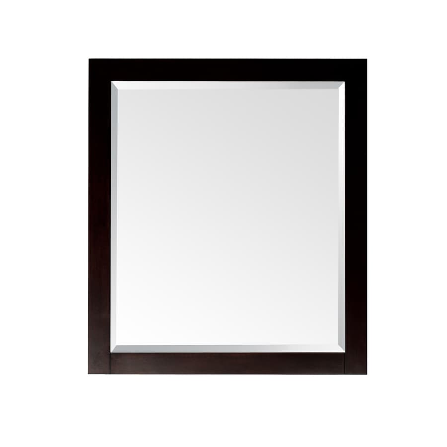 Avanity Lexington 24-in W x 32-in H Light Espresso Rectangular Bathroom Mirror