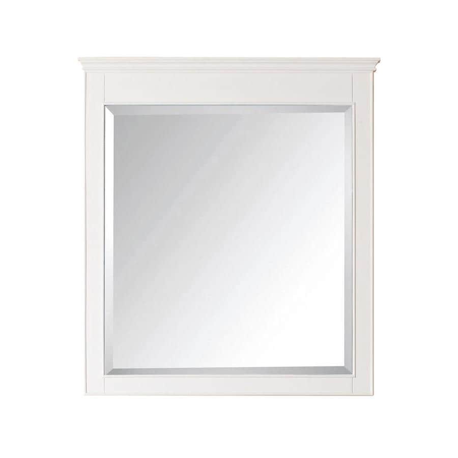Shop avanity windsor 34 in x 38 in white rectangular for White framed mirror