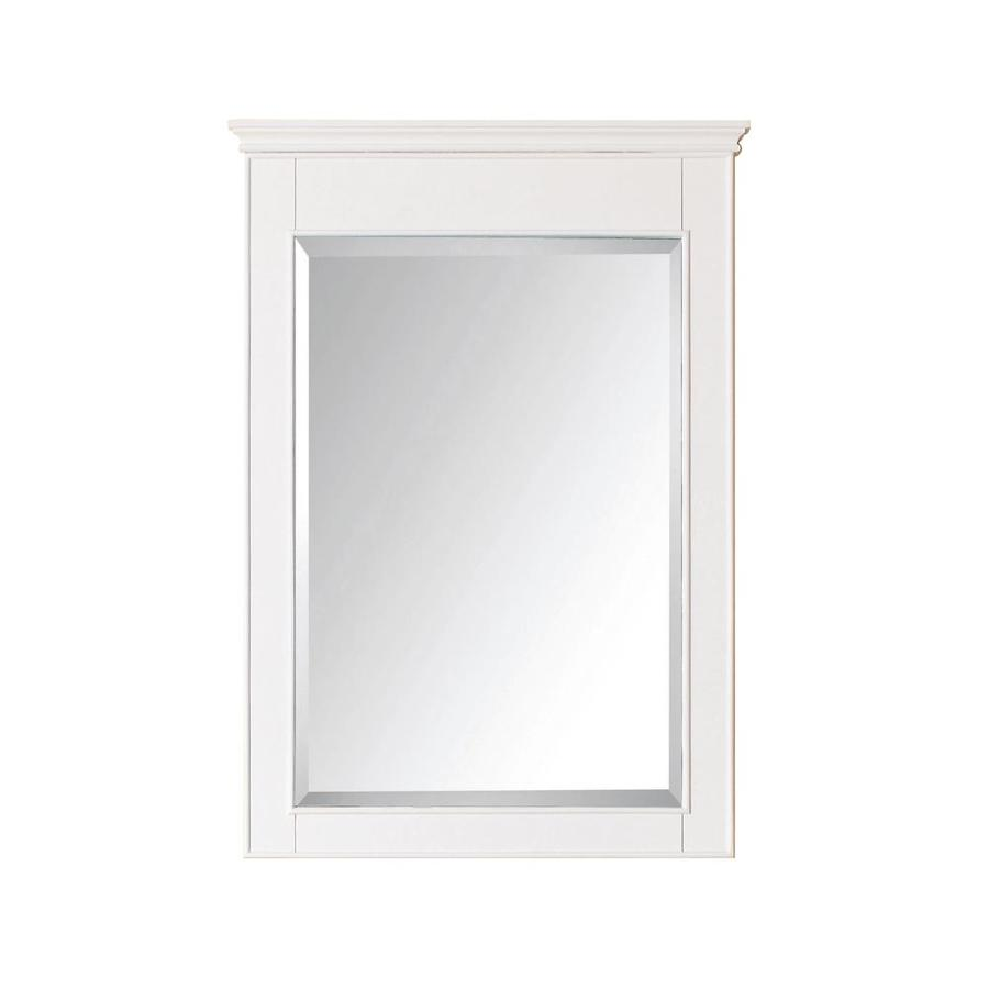 White Frame Bathroom Mirror shop avanity windsor 24-in x 34-in white rectangular framed