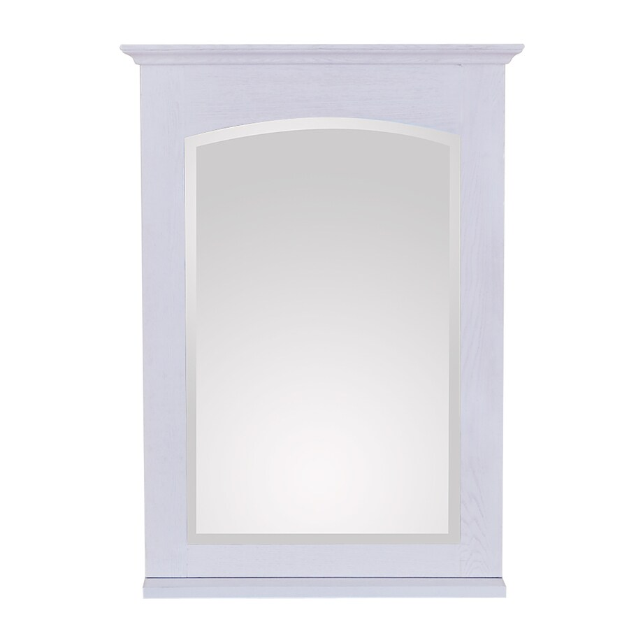 Avanity Westwood 24-in W x 33-in H White Washed Square Bathroom Mirror