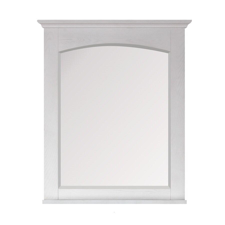 Avanity Westwood 28-in W x 33-in H White Washed Square Bathroom Mirror