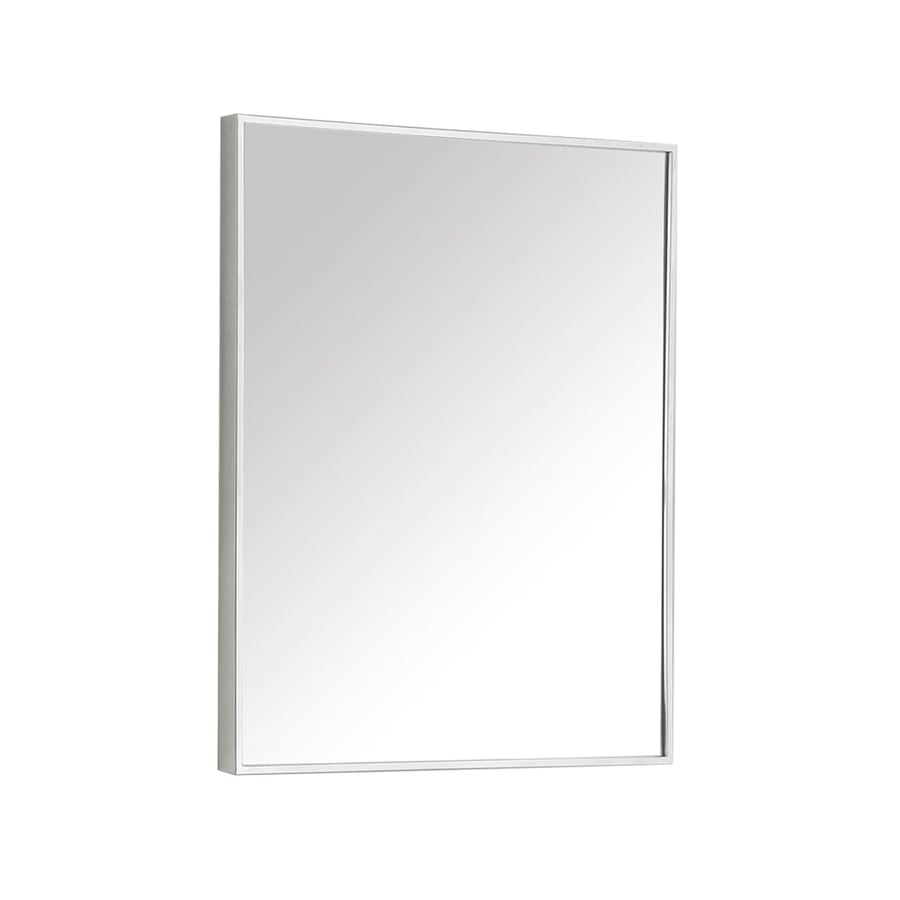Avanity 18-in x 28-in Metal Rectangular Framed Bathroom Mirror