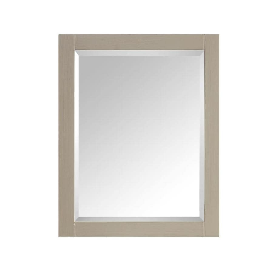 Avanity Delano 24-in x 30-in Taupe Glaze Rectangular Framed Bathroom Mirror