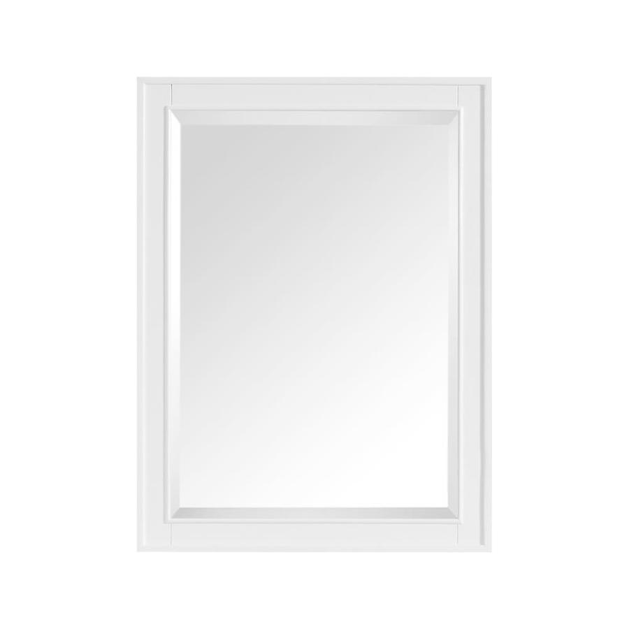 Shop avanity madison 24 in x 32 in white rectangular for White mirror