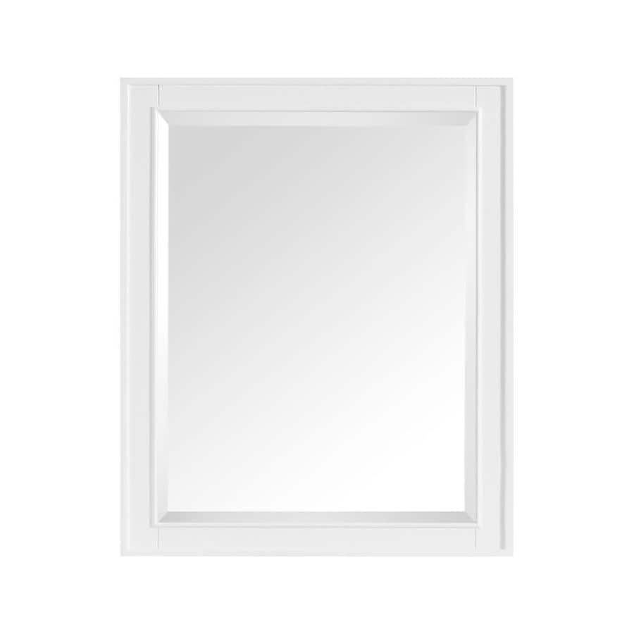 Shop avanity madison 28 in x 32 in white rectangular for White framed mirror