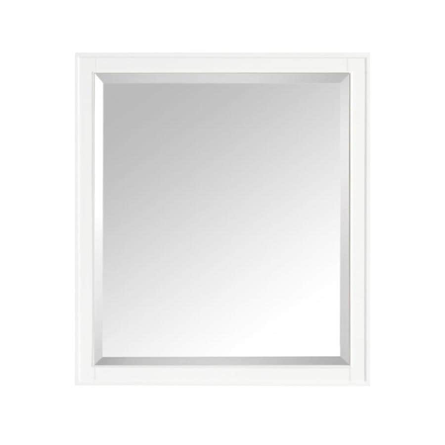 Shop avanity madison 36 in x 32 in white rectangular for White framed mirror