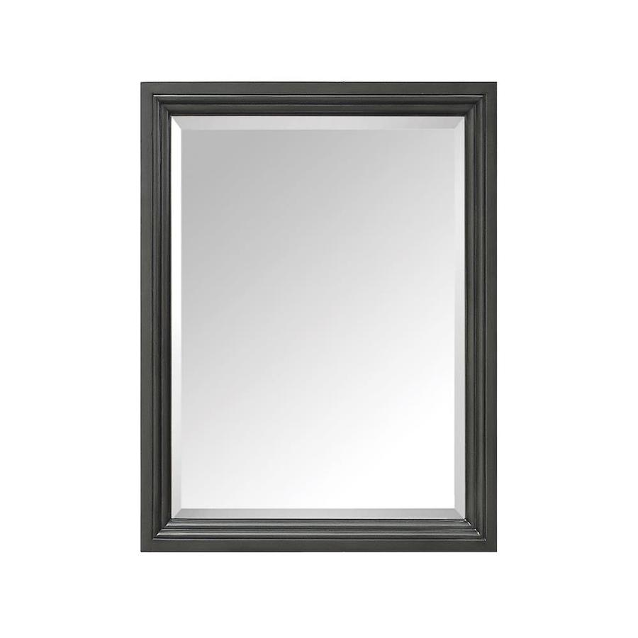 Avanity 24-in x 30-in Charcoal Glaze Rectangular Framed Bathroom Mirror