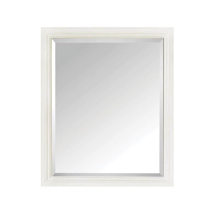 Avanity 28-in x 33-in White Rectangular Framed Bathroom Mirror