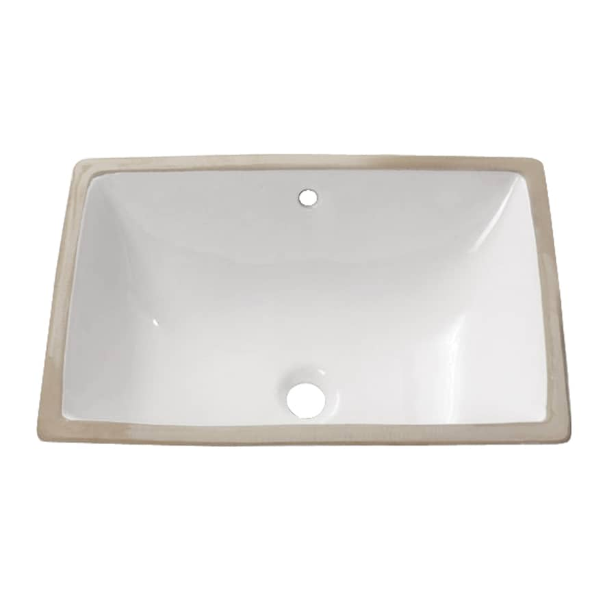 rectangular undermount bathroom sinks shop avanity white undermount rectangular bathroom sink 20121