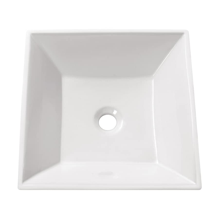 Avanity White Vessel Square Bathroom Sink