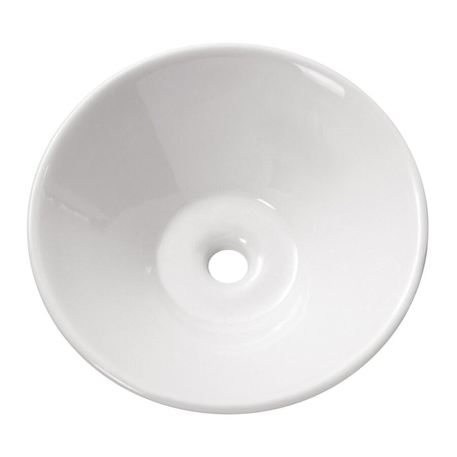 Avanity White Vessel Round Bathroom Sink