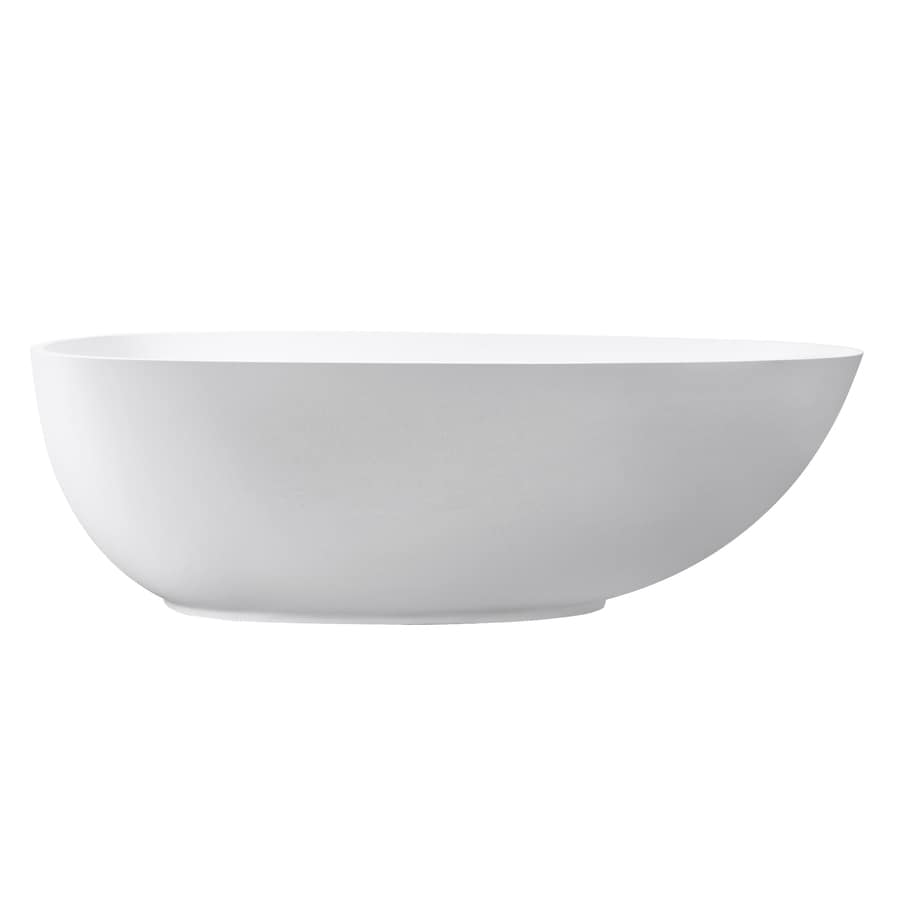 Avanity 67.5-in Matte Solid Surface Freestanding Bathtub with Center Drain