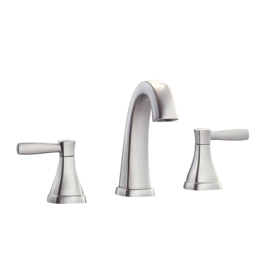 Shop avanity brushed nickel 2 handle widespread bathroom for Bathroom faucets lowes