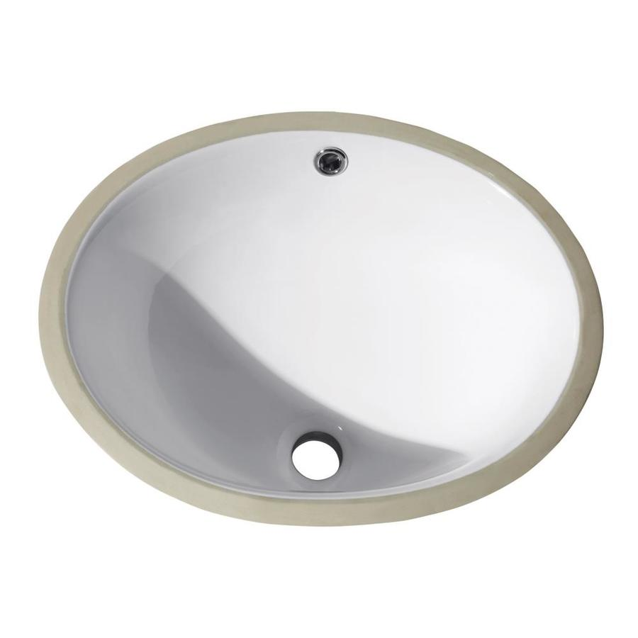 shop avanity white undermount oval bathroom sink with