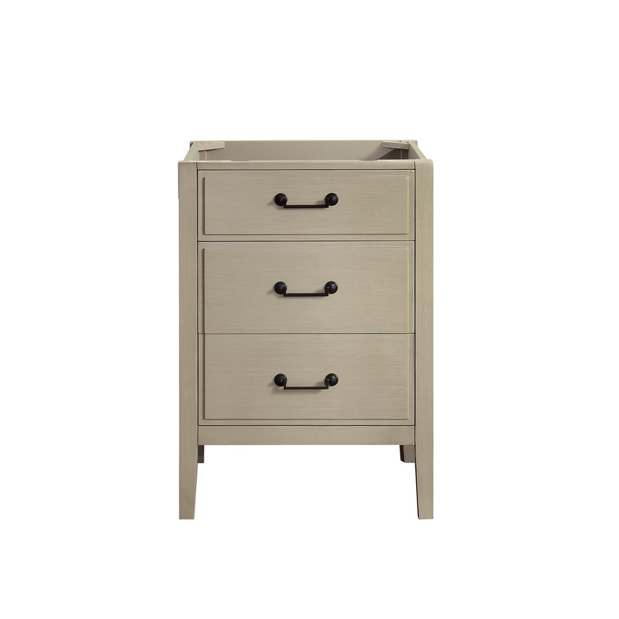 Shop Avanity Delano Taupe Glaze Transitional Bathroom Vanity Common: 24in x 22in; Actual: 24