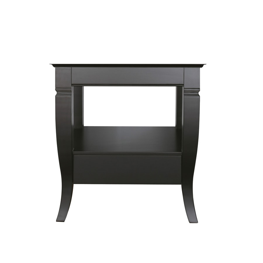 Avanity Milano Freestanding Black Bathroom Vanity (Common: 30-in x 21-in; Actual: 30-in x 21-in)