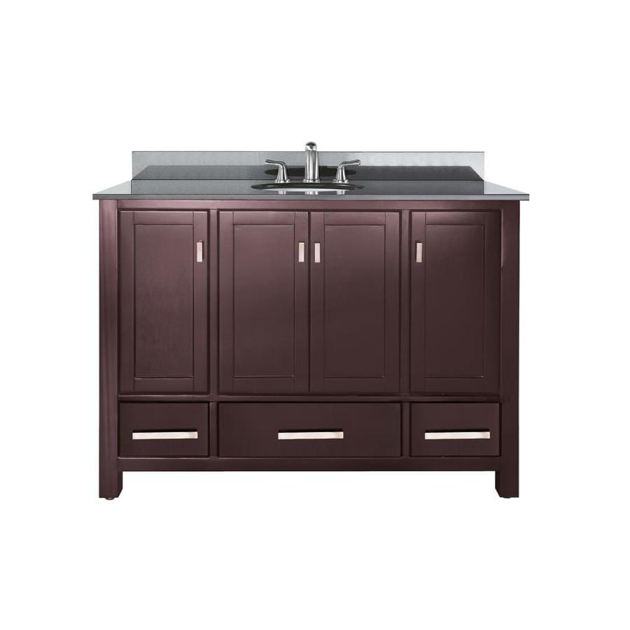 sink bathroom vanity with granite top common 49 in x 22 in actual