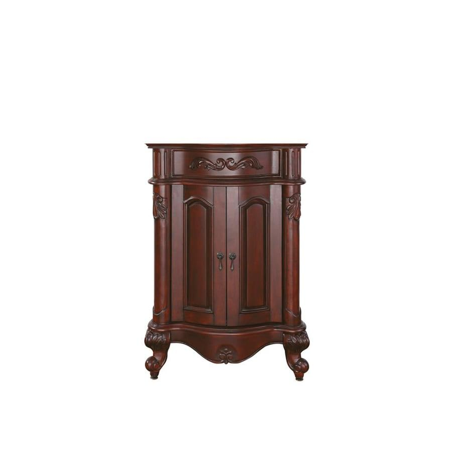 Avanity Provence 24-in Antique cherry Bathroom Vanity Cabinet - Shop Avanity Provence 24-in Antique Cherry Bathroom Vanity Cabinet