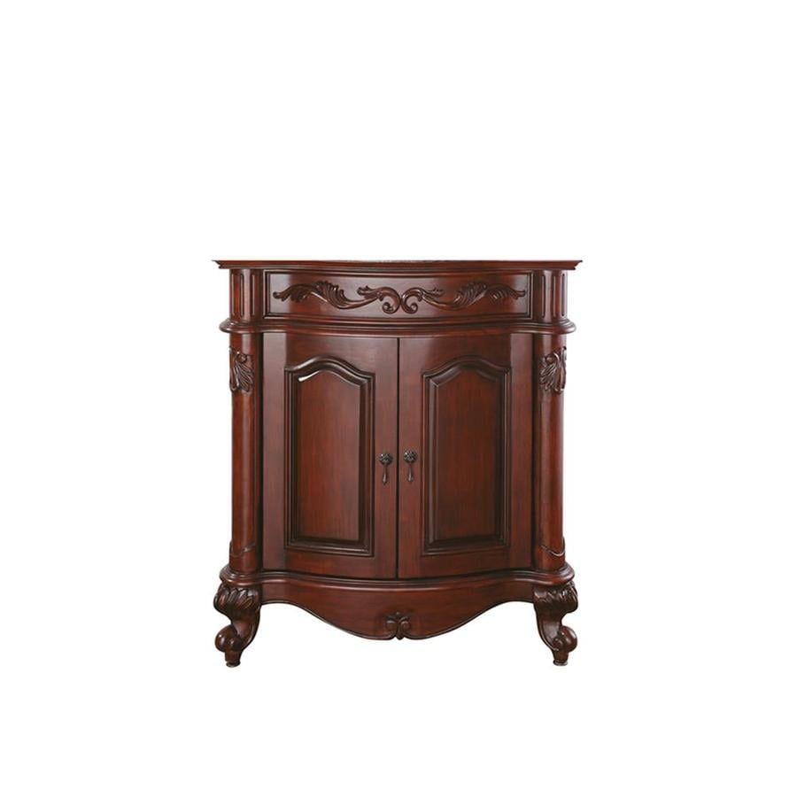 Avanity Provence Antique Cherry Bathroom Vanity Common 31 In X 21
