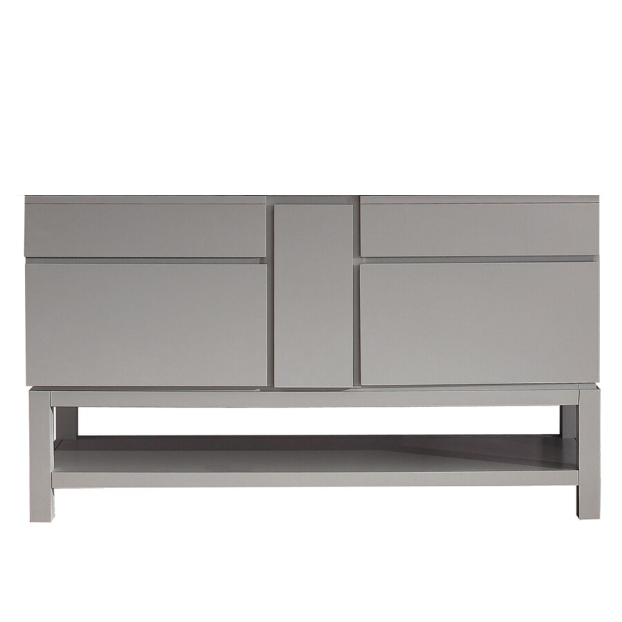 Avanity Tribeca Chilled Gray 60-in Contemporary Bathroom Vanity
