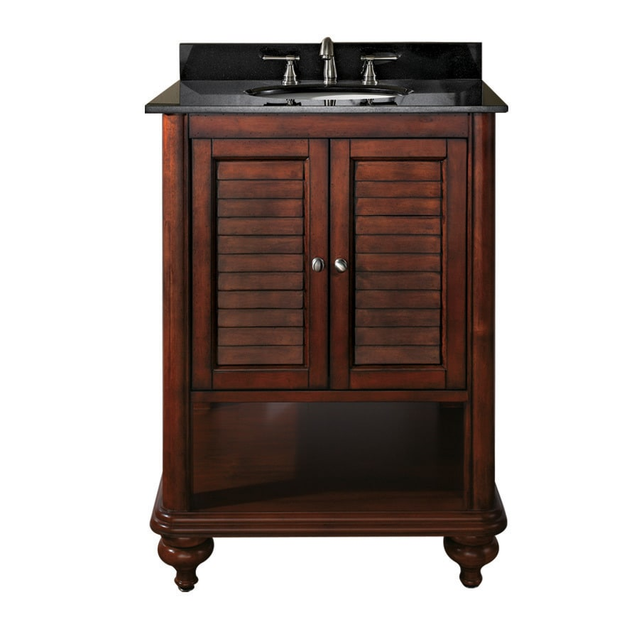 Avanity Tropica 24-in Antique brown Bathroom Vanity Cabinet - Shop Avanity Tropica 24-in Antique Brown Bathroom Vanity Cabinet At